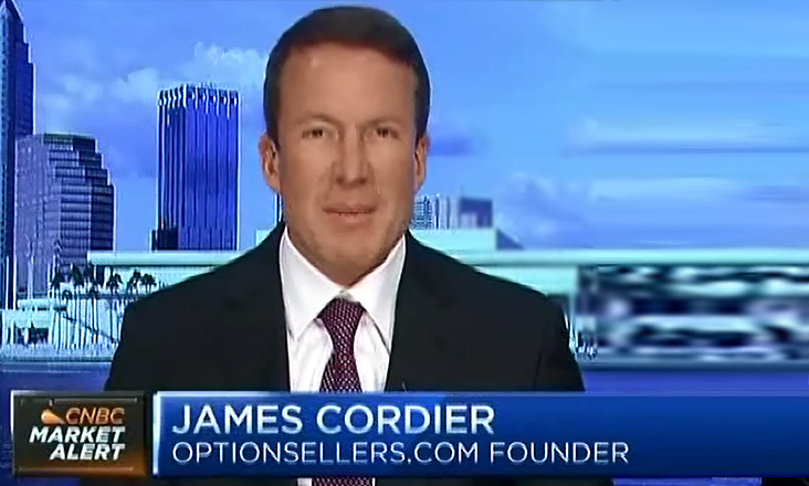 James Cordier, Founder, OptionSellers.com on CNBC Market Alert